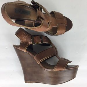 Steve Madden Shoes - Steve Madden Brown 8 Leather Platform Sandals